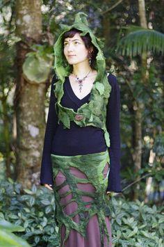 Felt Rain Forest Leaf Wood Nymph Belt