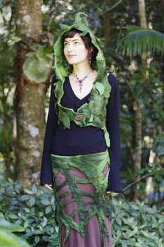 Felt Rain Forest Leaf Wood Nymph Belt