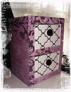 Everyone can use extra storage, no matter how big or small.  The Armoire is from AMELIE'S ACCESSORIES SVG KIT and Therese is storing stamp pads in hers!!!  Great idea!