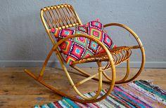 Chair chair rocking rocking child vintage by Latelierbellelurette Bohemian Kids, Bohemian Decor, Bohemian Style, Vintage Room, Vintage Kitchen Decor, Retro Vintage, Vintage Style, Cane Furniture, Wicker Furniture