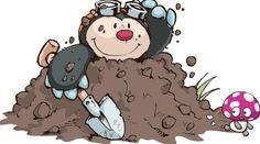 Cartoon Mole, Forest Friends, Woodland Creatures, Rock Art, Clipart, Cute Drawings, Animal Pictures, Giraffe, Cute Animals