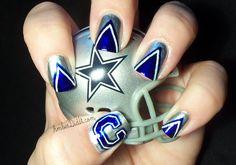 football team nail designs | NFL Nail Art Series #2 ~ Dallas Cowboys Nails