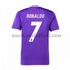 Billige Fotballdrakter Real Madrid 2016-17 Ronaldo 7 Borte Draktsett Kortermet Ronaldo Shirt, Kobe, Club, Sports, Shopping, Madrid 2016, Soccer Jerseys, The League, Football Soccer