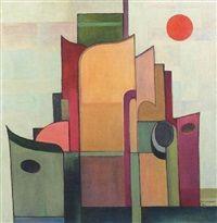 La maret verte Le soleil rouge, by Marcel-Louis Baugniet 1927   Marcel-Louis Baugniet (Belgian, 1896–1995)