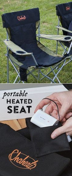 The Chaheati heated seat pad makes any seat a heated one, cordlessly. Stay warm anywhere—just charge the battery from home or in the car (with optional car charger) for hours of use. Weather-resistant and durable, this heated cover can be used camping, tailgating, at a game, or just in your office chair.