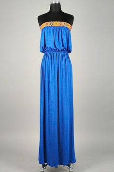 Native Blue Maxi Dress #dress #maxi #fashion amusemeboutique.com