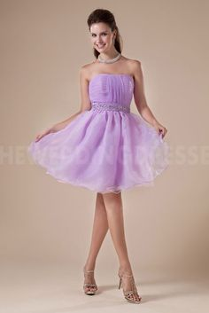 Purple Tulle Strapless homecoming Dresses - Order Link: http://www.theweddingdresses.com/purple-tulle-strapless-homecoming-dresses-twdn4595.html - Embellishments: Beading; Length: Short; Fabric: Tulle; Waist: Natural - Price: 147.54USD