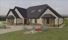 Bungalow House Plans Ireland And Uk 8 Cosy Modern Irish Dormer House, Dormer Bungalow, House Plans Uk, Bungalow House Plans, House Front, House Design, House Styles, Bungalow Designs, Irish
