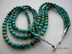 Multi strand turquoise beaded necklace.Turquoise jewelry.Indian jewelry.Native American jewelry.Indian jewelry online.American Indian jewels by SantaFeCollection on Etsy