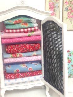 Miniature Dollhouse Linen Cabinet by RibbonwoodCottage on Etsy, $55.00