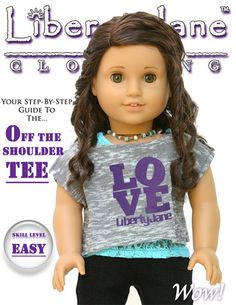 Off The Shoulder Tee 18 inch Doll Clothes Pattern PDF Download | Pixie Faire