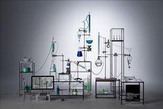 by Coriette Schoenaerts Rube Goldberg Machine, Chemistry Set, Decoration Inspiration, Design Research, Exhibition Space, Science, Display Design, Window Design, Design Thinking