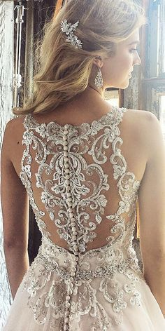 Wonderful Perfect Wedding Dress For The Bride Ideas. Ineffable Perfect Wedding Dress For The Bride Ideas. Wedding Dress Illusion Back, Wedding Dress Backs, Unique Wedding Gowns, Illusion Dress, Wedding Dress Trends, Dream Wedding Dresses, Bridal Dresses, Detailed Back Wedding Dress, Wedding Ideas