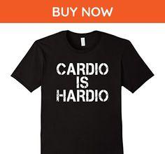 Mens Cardio Is Hardio Shirt Large Black - Workout shirts (*Amazon Partner-Link)