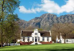South Africa might be considered a new world wine region, but its winemaking history dates back some 300 years. Cape Dutch, Caribbean Homes, Dutch House, Dutch Colonial, Thatched Roof, Places Ive Been, South Africa, Holland, Beautiful Places