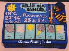 TORTA MILITAR FAP ESPECIALIDAD DE METEROLOGIA, conn detalles unicos en ella , elaborado por MONICA PASTAS Y DULCES.
