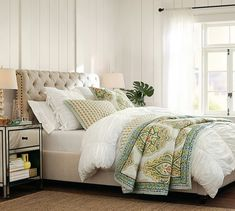 Hadley Ruched Duvet Cover & Sham - White | Pottery Barn