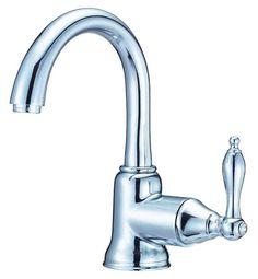 Danze D222540 Single Hole Bathroom Faucet From the Fairmont Collection (Valve In Chrome Faucet Lavatory Single Handle