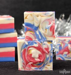 4th of July Fireworks Cold Process | Soap Queen