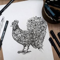 Cock-a-doodle-doo 🐓🎨☃🎆🎄 I'm really looking forward to the New Year ⏳🎄🎁🎉🍀