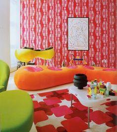 All my favorite colors in one room - Karim Rashid