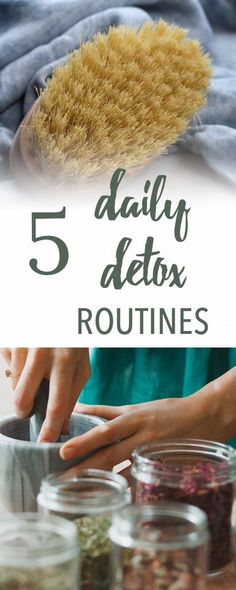 5 Easy Daily Detox Routines