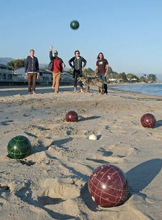 Bocce Ball! So maybe I should learn before I go to Italy...