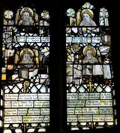 https://flic.kr/p/cHxxgj | Swinbrook-123 Late 15th centuy glass moved from chancel east window http://www.bwthornton.co.uk/visiting-stratford-upon-avon.php