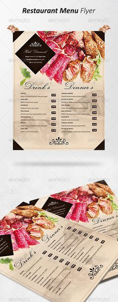 Donuts Menu Flyer Menu, Donuts and Template - menu flyer template