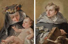 Giovanni Domenico Tiepolo SAINT ROSE OF LIMA; SAINT DOMINIC