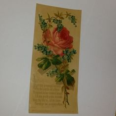 antique Victorian greeting cards 3 piece lot roses by cipmunk