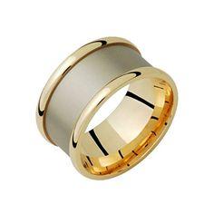 Ciiao 14k Gold Two Tone Wedding Band 12mm Wide Flat Exterior Sandblast in Centre for Him Her Size 8.25 Alain Raphael http://www.amazon.com/dp/B000ETTE3Q/ref=cm_sw_r_pi_dp_Cr2cvb1APZKJK