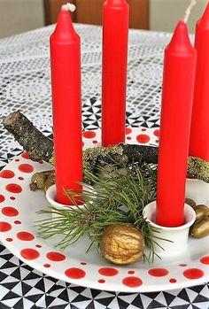 Kerzenteller für den Advent - Handarbeit - in verschiedenen Glasuren verfügbar