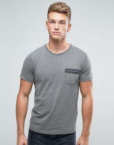 Camiseta con bolsillo de parche de Esprit