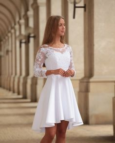Lace Homecoming Dresses, Grad Dresses, Dresses For Teens, Bridal Dresses, Confirmation Dresses White, Aesthetic Fashion, Pretty Dresses, Dress Skirt, Marie