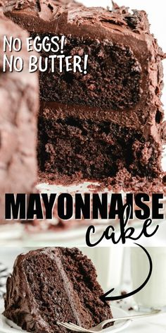 Moist and delicious, this chocolate mayonnaise cake is the perfect addition to a dessert table or celebration. Flour, mayo, and sugar are the basis for this simple mayo cake, which is easy to make from scratch with ingredients you likely already have on hand, so no trips to the store are required! Chocolate Cake From Scratch, Chocolate Mayonnaise Cake, Cake Recipes From Scratch, Cake Mix Recipes, Mayonaise Cake, Dessert Recipes, Cake Mixes, Pie Recipes, Recipies