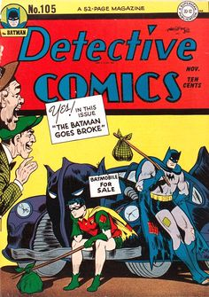 Detective Comics #105 (1945) Cover by Jack Burnley and Charles Paris