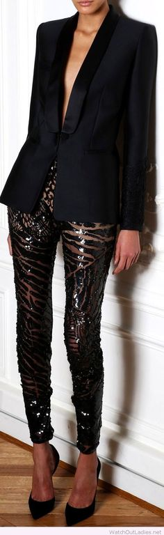 Wonderful glitter pants with animal print