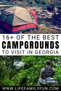 If you are looking for the best place to camp in Georgia, look no further than this great list of the top 10 campgrounds in Georgia. Family Camping, Family Travel, Camping In Georgia, Best Campgrounds, Best Places To Camp, Outdoor Life, Travel With Kids, Travel Around The World, Trip Planning