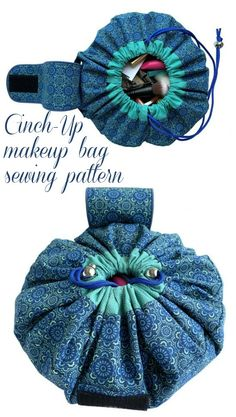 Sofia Cinch-Up Makeup Bag sewing pattern - Sew Modern Bags Sewing Makeup Bag, Makeup Bag Pattern, Diy Makeup Bag, Bags Sewing, Lip Makeup, Free Printable Sewing Patterns, Easy Sewing Patterns, Bag Patterns To Sew, Free Sewing