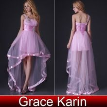 Prom dresses, Prom dresses direct from Grace Karin Evening Dress Co. Limited (Suzhou) in China (Mainland) Sister Wedding, Wedding Bride, Pink Prom Dresses, Formal Dresses, Long Back Dress, Pink Tulle, Party Gowns, Dress Backs, Buy Dress