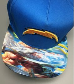 bffcc8e7c94 San Diego Charger Authentic New Era Snapback and Fitted Cap with Custom  Image by UrbanScholarApparel on