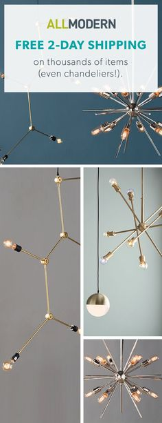Chandeliers - Sign up now for FREE SHIPPING on orders over $49 at allmodern.com!