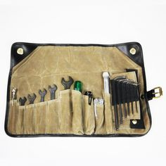The Tool Roll by Union Garage NYC is a new product from the New York based company, it's designed to be an all-inclusive set of tools for metric motorcycles that'll keep you on the road, even when your bike is being a little temperamental. It comes equipped with a 50 piece tool kit, including American­-made Leatherman pliers, Bondhus L­bend Allen keys, an ultra­compact micro ratchet wrench with a 20­ piece hardened steel bit set, Heyco­brand open­-end wrenches and a compact test light — both…