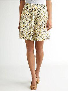 Sateen Pleated Skirt