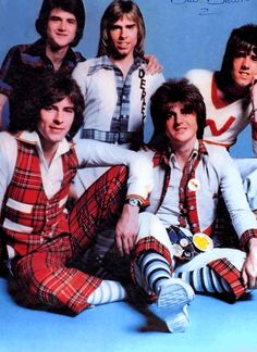 The Bay City Rollers; When all the other girls were swooning over these guys & wearing tartan, (ugh) I'm afraid I was more into Led Zeplin for the music & Northern Soul for the dancing.