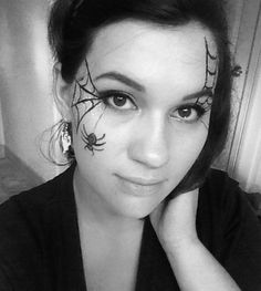 Spider Makeup Halloween Simple