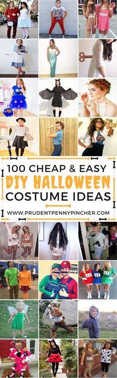 100 Cheap and Easy Halloween Costume DIY Ideas