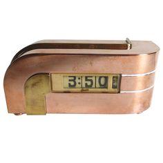 """Kem Weber Designed """"Zephyr"""" Clock for Lawson"""