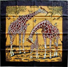 Hermes Les Girafes by Robert Dallet